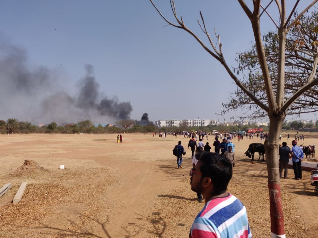IAF mirage 2000 crashed in Bangalore in 2019