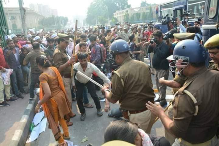Teacher protest in lucknow
