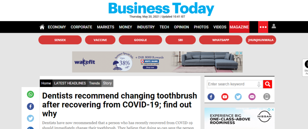 toothbrush change after covid hindi news