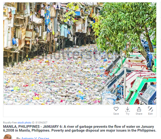 Phillipines Manila Most Polluted River