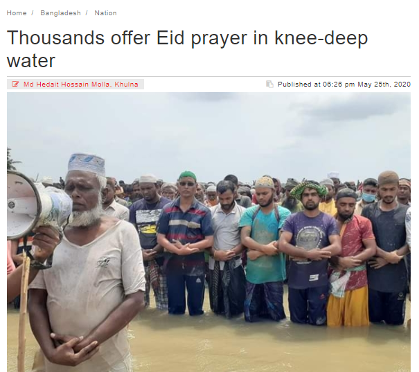 namaz in river by muslims
