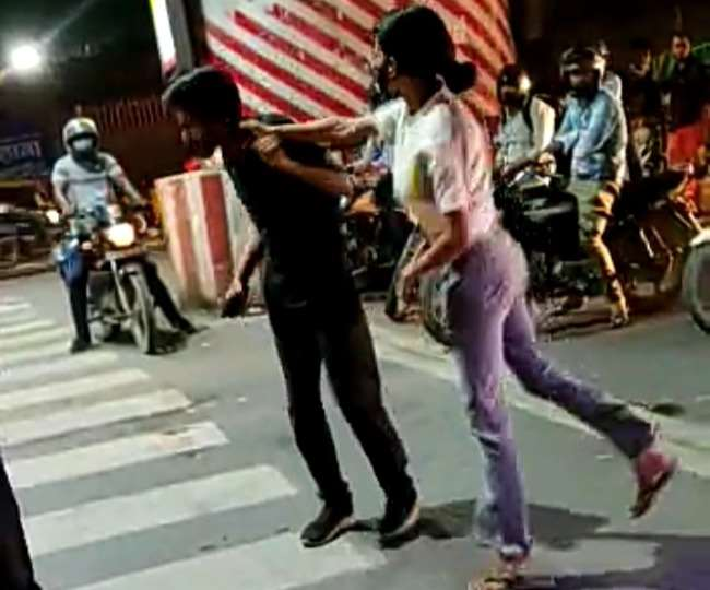 lucknow girl beating cab driver reason